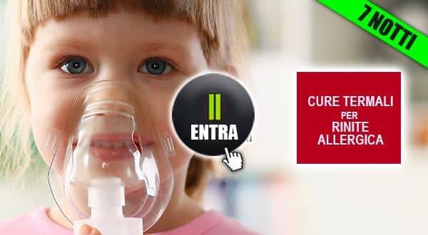Rinite allergica bambini cure termali