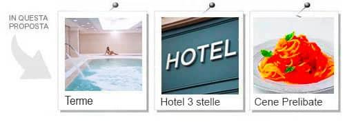 Esperienze incluse nell'offerta weekend piscina hotel e cena